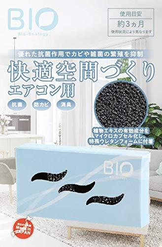 エアコンの抗菌消臭剤 吸気口用 日本製 (防カビ 消臭 抗菌 フィルター)