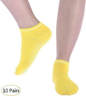 KINDOYO Yoga Socks - Dance Fitness Socks Non Slip Breathable Grips Socks Mmultiple Colour