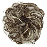 PRETTYSHOP Postizo Coletero Peinado alto Voluminoso Rizado Moño Descuidado Mezcla Rubia Marrón G38A
