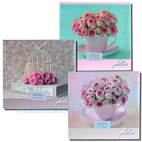 Album Fotografico 100 foto 13 x 19 Portafoto Mascagni con Rose s440