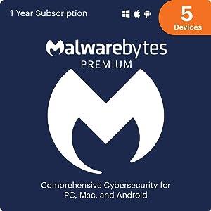 Malwarebytes Premium 4.0 Latest Version | 5 Device 1 Year (PC, Mac, Android) [software_key_card]…