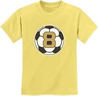 Tstars - 8 Year Old Eighth Birthday Gift Soccer Youth Kids T-Shirt