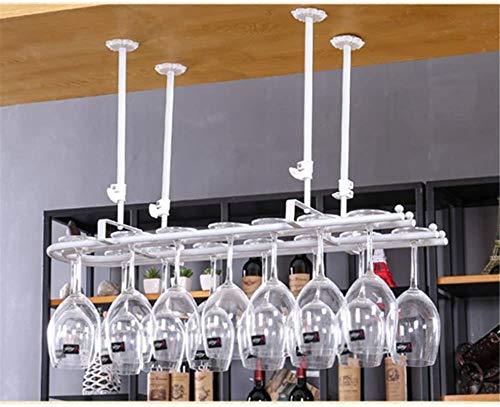TUHFG Botellero de hierro forjado, se puede colgar de 10 a 16 unidades, ideal para decoración de hogar, comedor, vino, 60 cm (color: B, tamaño: 60 cm)