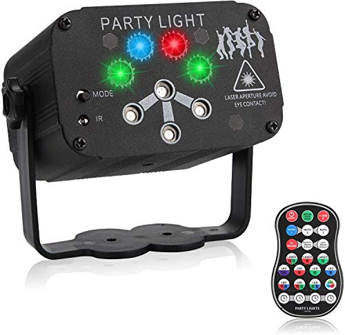 Party Lights Disco Ball, 18 Remote Control Projection Led Patterns, Dj Projection Lights, Voice Control and Remote Control Dj Lights Birthday, Halloween Bar, Karaoke, Christmas, Wedding