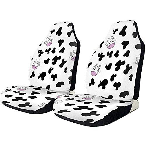 Autostoelhoezen Cow Cartoon Farming Husbandry Protector kussen Universal Bucket stoelhoezen geschikt voor de meeste auto's