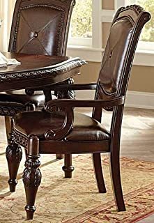Antoinette Arm Chair in Multi-Step Rich Cherry [Set of 2]