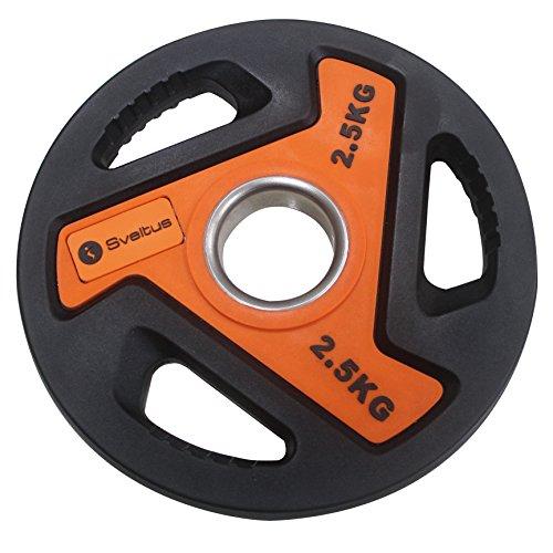 Sveltus 3810Disco para Barra Unisex, Naranja/Negro, 2,5kg