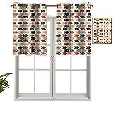 Hiiiman Panel de cortina de bloqueo UV con líneas de puntos, juego de 1, 137 x 45 cm para habitación de niños