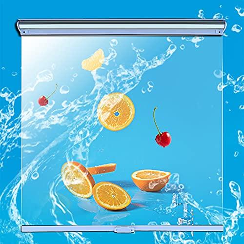 MYLW Persiana Enrollable 100% Impermeable Persianas Enrollables Transparentes Papel Film, Vitrina/Congelador/Supermercado Persianas Enrollables Transparentes, Fácil De Instalar