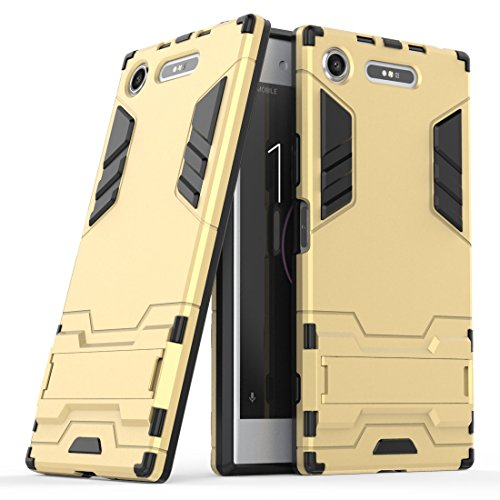 SCIMIN Capa híbrida para Sony Xperia XZ1, capa para Sony Xperia XZ1 à prova de choque, capa rígida híbrida de camada dupla com suporte para Sony Xperia XZ1 de 5,2 polegadas