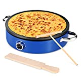 MICHELANGLEO Crepe Maker 13 Inch, Professional Electric Crepe Maker with Large 13' Grill...