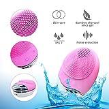 Cepillo de Limpieza Facial,3 en 1 Resistente al Agua Eléctrica Masajeador Facial Exfoliante de Silicona para Limpieza Profunda de la Piel (Carga inalámbrica)
