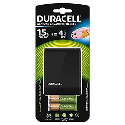 Duracell - Conjunto de cargador múltiple de alta velocidad, 2 pilas AA y 2 pilas AAA