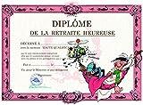 Gaston Lagaffe Carte double avec enveloppe Diplôme de la Retraite Heureuse - Départ Hamac Repos Sieste Farniente Grandes Vacances Détente Loisirs
