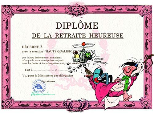 Gaston Lagaffe Dubbele kaart met envelop Diplom de la Rustuse, Starter hangmat Ruhe Sieste, grote vakantie, ontspanning vrije tijd