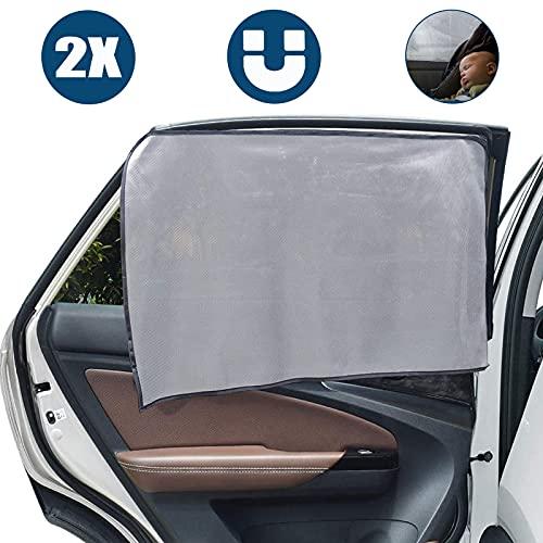 Auto Sonnenschutz Vorhang, 2er Pack Auto Sonnenschutz Sonnenschutz Magnetisch für UV-Schutz, Sonnenschutz für Baby Kinder Kinder (Rear Side Window)