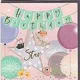 Belly Button Designs Carte de vœux pour anniversaire de la nouvelle série Elle avec gaufrage, film et cristaux