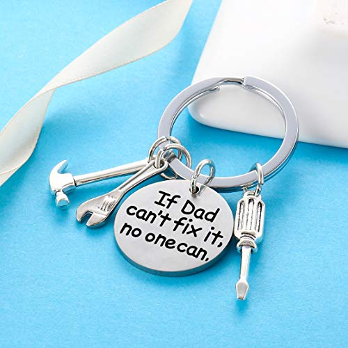 Product Image 3: Dad Keychain Dad Gifts from Son Daughter Christmas Gift Keyring Father's Day Gift for Dad Papa Daddy (If dad Can't fix it, no one can)
