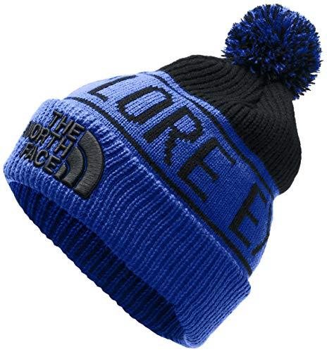 The North Face Retro TNF Pom Beanie, TNF Blue/TNF Black, OS