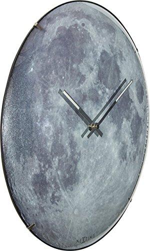 NeXtime Reloj de pared 'MOON DOME', muy silencioso, luna...