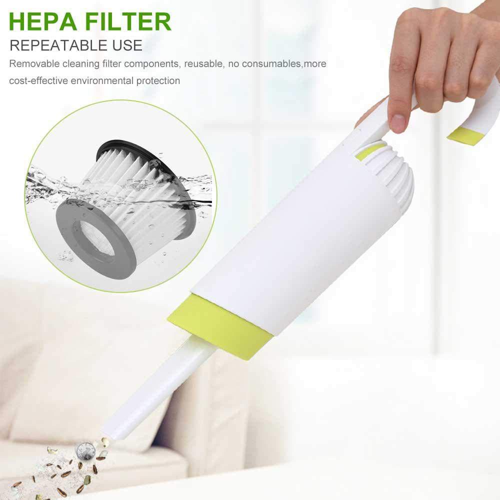 Aspirador de mano inalámbrico con cepillo + boquilla plana + ...