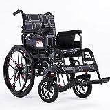 TYT Silla de ruedas eléctrica para personas mayores con discapacidad Scooter ligero plegable para personas mayores tipo todoterreno,Modelos todoterreno [rueda grande] Batería de litio 20