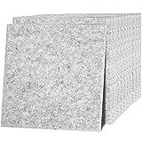 ybaymy 12 Stück Akustikplatten Schallabsorber 40 x 30 cm Schallabsorptionsplatte Schallschutzplatten Akustikpaneele Wand Polyesterfaser, Akustikbehandlung und Geräuschreduzierung Silbergrau