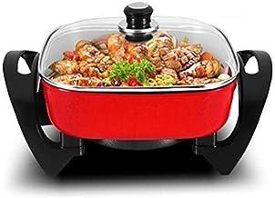 DYXYH Poêle électrique, électrique Pan, Hot Pot électrique, en fonte d'aluminium Pot Corps avec antiadhésif Surface