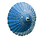 VAPS(ヴァップス) コスチューム用小物 和傘 コスプレ 桜吹雪 和傘 番傘 神楽 (青)