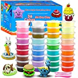 36 Colors Air Dry Clay Modeling Clay, Moulding Craft Clay, Super Light Clay Set for Kids and Teens with Tools, Creative Art DIY Crafts Clay Dough, Best Gift for Kids
