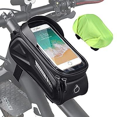 HASAGEI Fahrrad Rahmentasche Handyhalterung Fahrrad Wasserdicht Fahrradzubehör Fahrradtasche Rahmen Rahmentasche Fahrrad für Smartphone unter 7 Zoll
