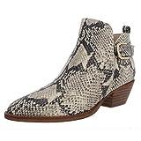 Sam Edelman Womens Neena Leather Snake Print Ankle Boots B/W 6 Medium (B,M)