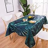yueyue947 / Mantel Rectangular Pastoral Estilo Plantas Tropicales Mantel Estampado/ración y ración del hogar Elegante Cubierta de Mesa/I 90x90cm