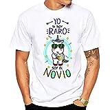 Camiseta Yo si Soy Raro Soy el Novio. Camiseta Divertida para Despedida de Soltero (XL)