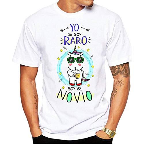 Camiseta Yo si Soy Raro Soy el Novio. Camiseta Divertida para Despedida de Soltero (L)