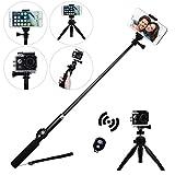 Selfie Stick for GoPro Hero Cameras, EletecPro Aluminum Alloy Self-Shooting Stick with Tripod Bluetooth Remote Waterproof Digital Camera