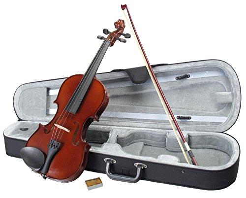 Classic Cantabile Student Violinenset 4/4 (Einsteiger/Schülerinstrument, Geige, Boden & Zargen aus Ahorn, Massive Fichtenholz Decke, Ahorn Steg, Inkl. Etui, Bogen und Kolofonium)
