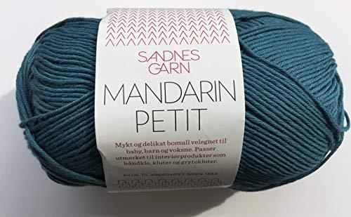 Sandnes Garn Mandarin 6553 - Hilo de Arena, Color Azul petróleo