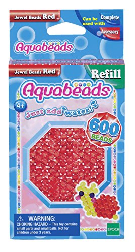 Aquabeads 32668 Rote Glitzerperlen - Nachfüllset