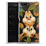 DeinDesign Silikon Hülle kompatibel mit Sony Xperia XZ Premium Case weiß Handyhülle Disney Chip und Chap Offizielles Lizenzprodukt