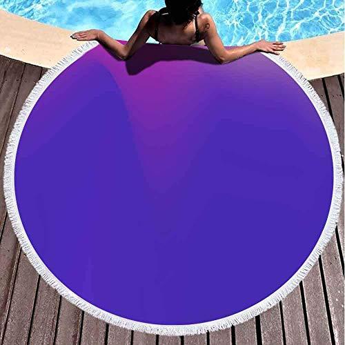 Toallas de playa para mujeres, toallas de playa para niñas Toalla de playa personalizada Plantilla de banner ondulado ultravioleta Diseño original Lila Gradiente suave 59 pulgadas Toalla de playa