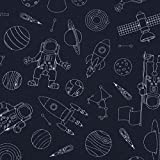 SCHÖNER LEBEN. Baumwolljersey Jersey Raumfahrt Astronaut