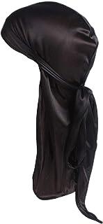 Century Star Satin Silky Durag Long Tail Headwraps Soft Beanies for Men Women