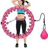 Comius Sharp 24 Segmente Hula Fitnesskreis Hoop, Fitnesskreis zur Gewichtsreduktion Schlankheits Kreis, Hoola Fitness Hoop Reifen Geeignet für Kinder Erwachsene Anfängermit, Fitness (Rosa) …