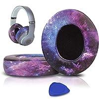SoloWIT イヤーパッド イヤークッション 交換用 Studio 2 & Studio 3 Wired/Wirelessに対応 革 ヘッドフォンに適用 遮音 メモリフォーム (銀河)