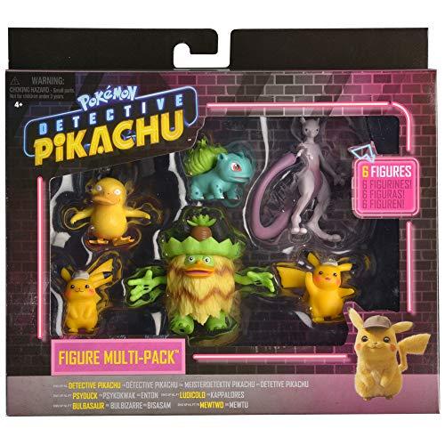 Bizak- Detective Pikachu Multi 6 Figuras, Color surtido (63227602)