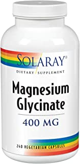 SOLARAY Magnesium Glycinate (400 mg) - 240 Vegetarian Capsules