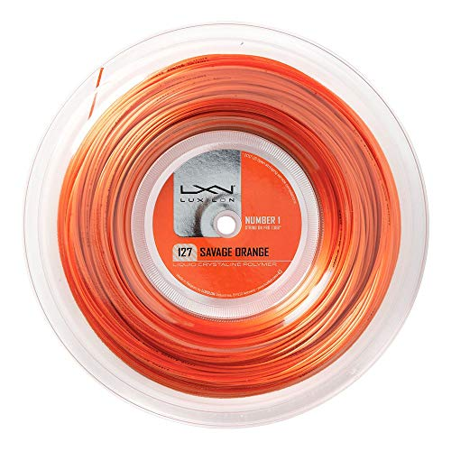 LUXILON SAVAGE ORANGE 12 METER SET TENNIS STRING 127MM,
