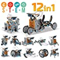 98K Solar Robot Kit 12 in 1 Educational STEM Learning Science DIY Building Toys for Kids Aged 10, 11 and Older, Solar Powered by The Sun