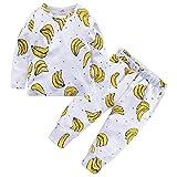BHYDRY NiñIto Bebé Chico Chica Niños Tops Florales Camiseta Pantalones Pijama Ropa De Dormir 2 Piezas Trajes(Amarillo,140)
